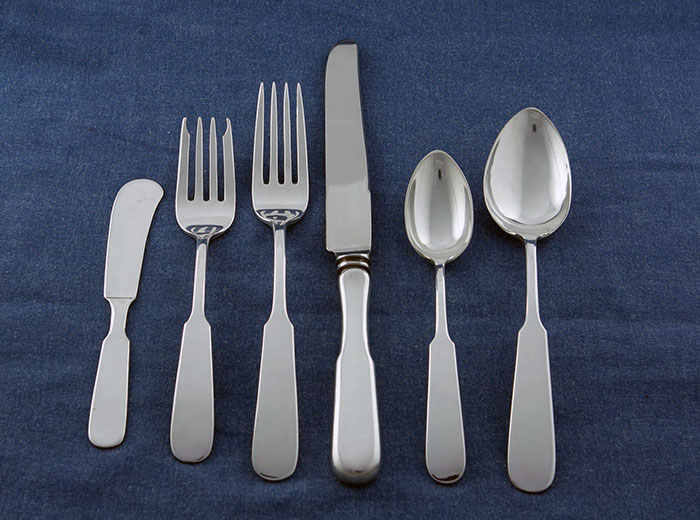 Erickson Silver Complete Chino Pattern Place Setting